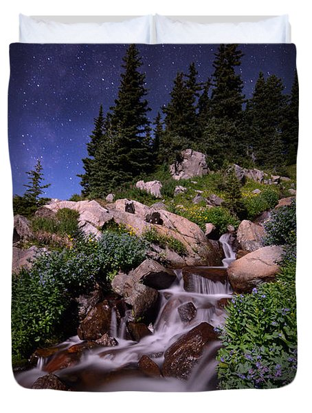 Wildflower Finale In The Indian Peaks Duvet Cover