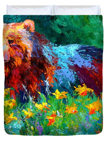 Wildflower Grizz II Duvet Cover