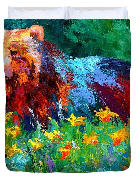 Wildflower Grizz II Duvet Cover