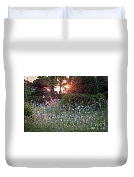 Wildflower Meadow At Sunset, Great Dixter Duvet Cover