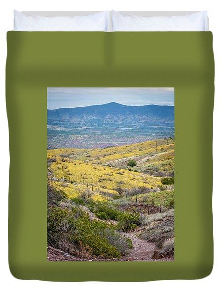Wildflower Meadows Duvet Cover by Karen Stephenson