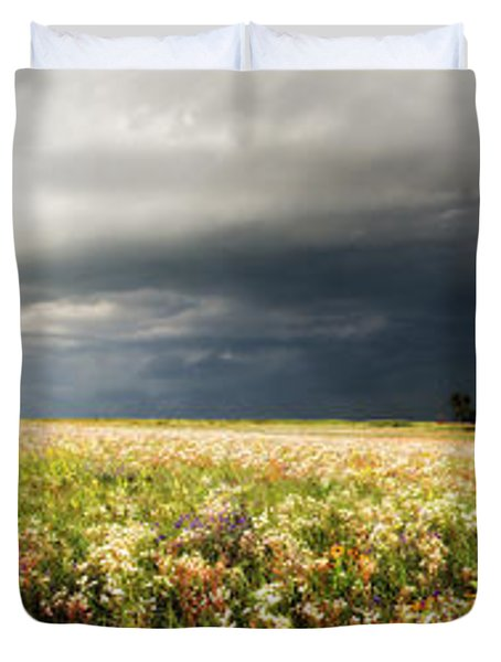 Wildflower Panorama 2008 Duvet Cover