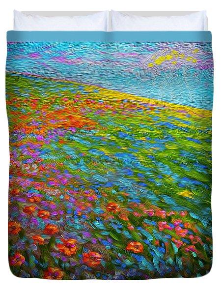 Wildflower Pastoral Duvet Cover