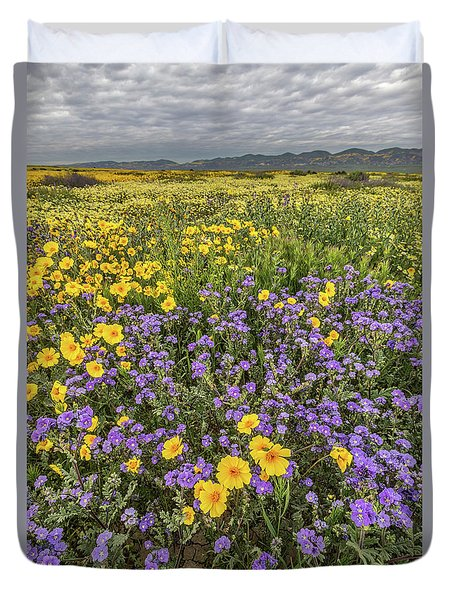 Duvet Cover featuring the photograph Wildflower Super Bloom by Peter Tellone