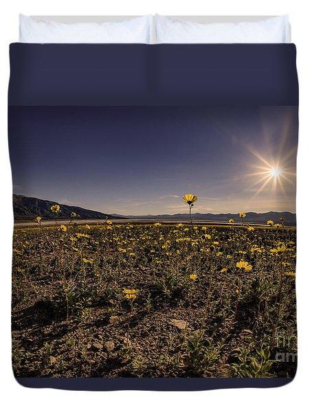 Wildflower Super Bloom Through The Fisheye Duvet Cover