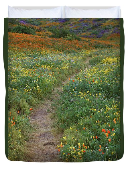 Duvet Cover featuring the photograph Wildflower Trail At Diamond Lake In California by Jetson Nguyen