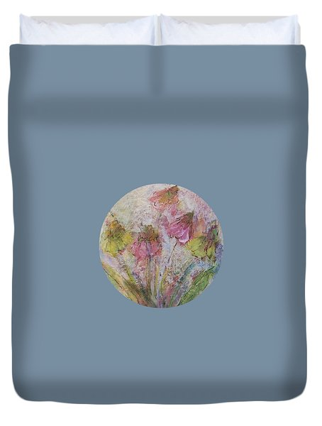 Duvet Cover featuring the painting Wildflowers 2 by Mary Wolf