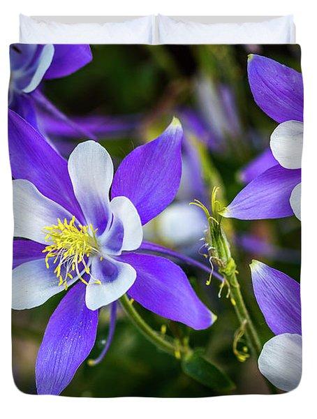 Wildflowers Blue Columbines Duvet Cover