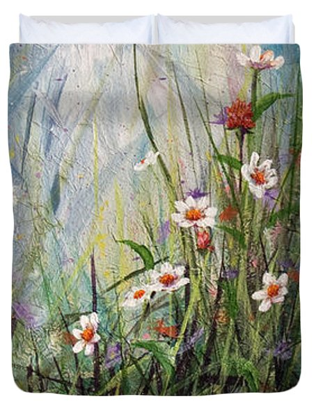 Wildflowers Duvet Cover by Dee Carpenter