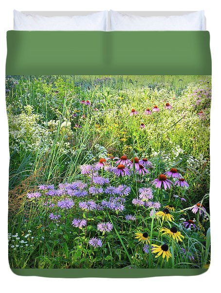 Wildflowers In Moraine Hills State Park Duvet Cover