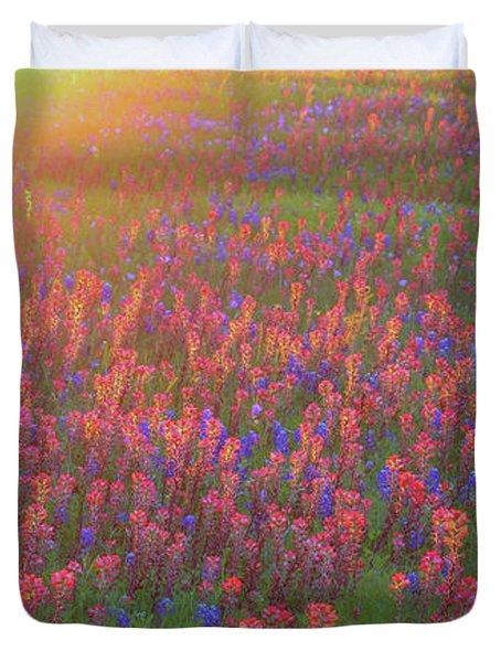 Wildflowers In Texas Duvet Cover