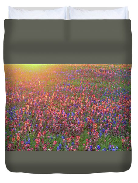 Wildflowers In Texas Duvet Cover