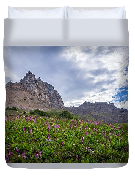Duvet Cover featuring the photograph Wildflowers In The Grand Tetons by Serge Skiba