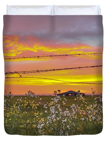 Wildflowers On The Ranch Duvet Cover