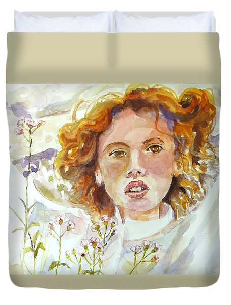 Wildflowers Duvet Cover by P Maure Bausch