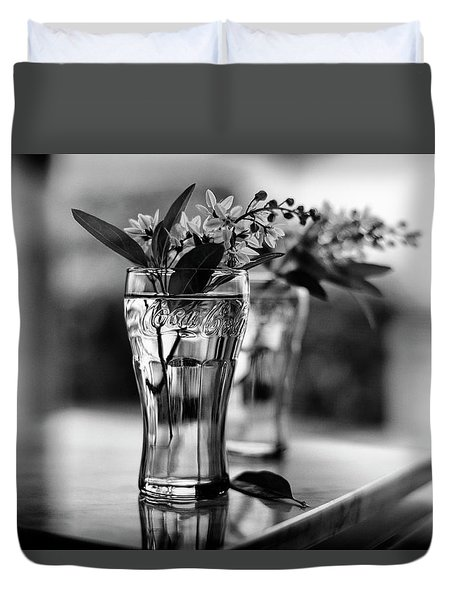 Wildflowers Still Life Duvet Cover