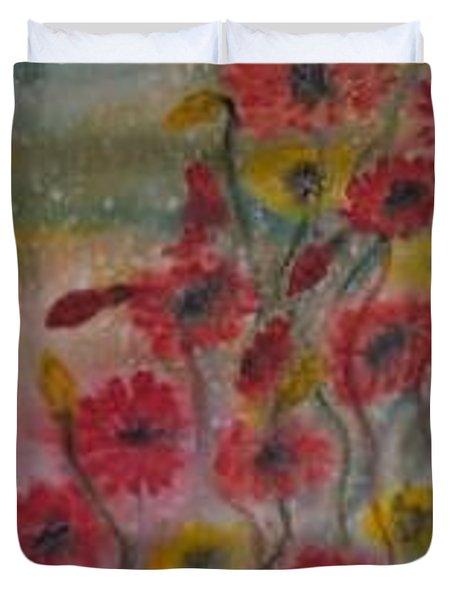 Wildflowers Still Life Modern Print Duvet Cover by Derek Mccrea