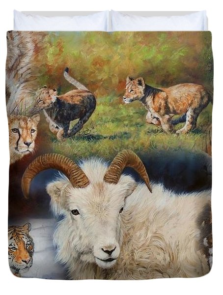 Wildlife Collage Duvet Cover