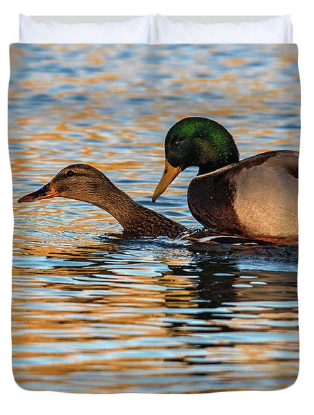 Wildlife Love Ducks  Duvet Cover