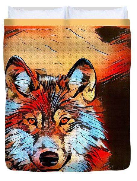 Wildlife Wolf 1 Duvet Cover