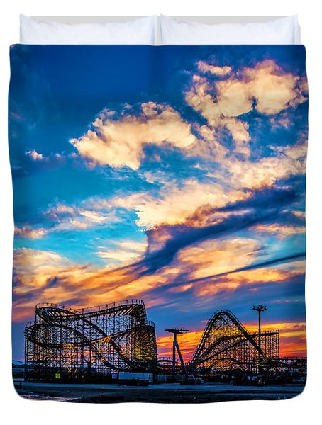 Wildwood Beach Sunset Duvet Cover