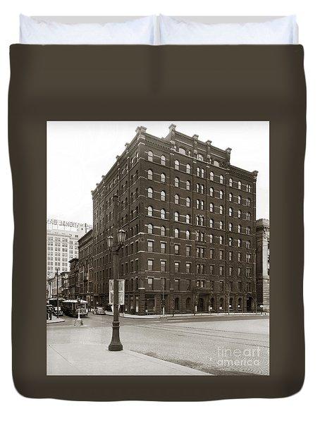 Wilkes Barre Pa Hollenback Coal Exchange Building Corner Of Market And River Sts April 1937 Duvet Cover