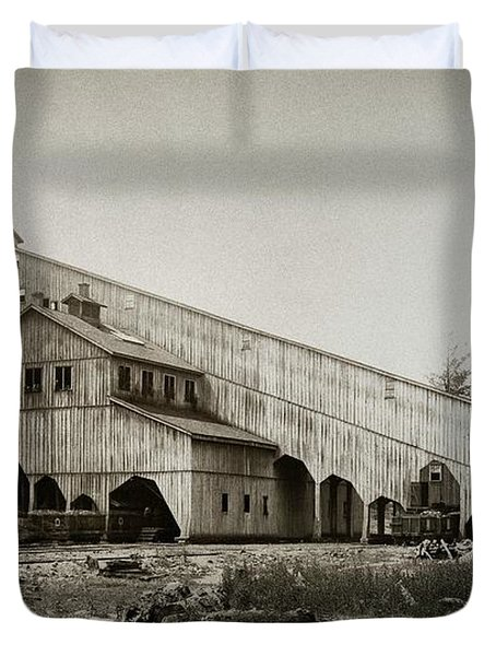 Wilkes Barre Twp Pa Empire Number 5 Coal Breaker 1880 Lehigh And Wb Coal Co. Duvet Cover
