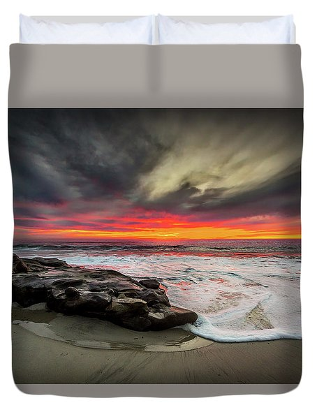 Will Of The Wind Duvet Cover by Peter Tellone
