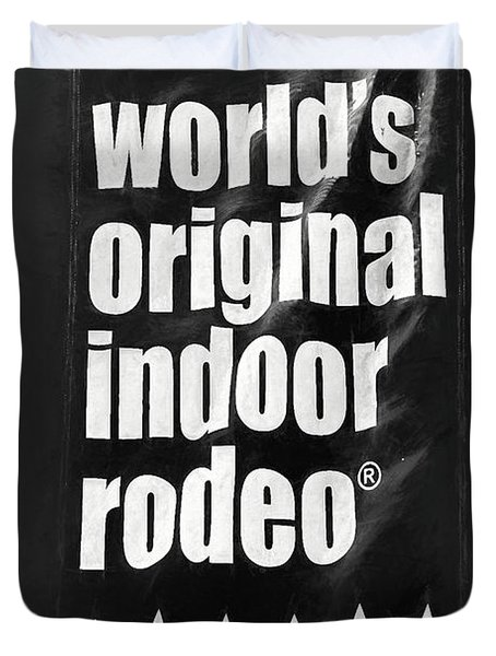 Will Rogers Rodeo Bw Duvet Cover