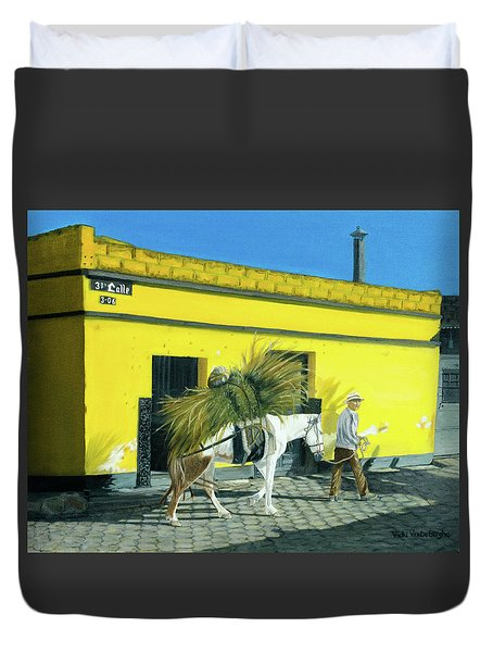 Will Work For Food Duvet Cover