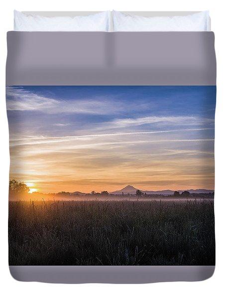 Willamette Valley Sunrise Duvet Cover