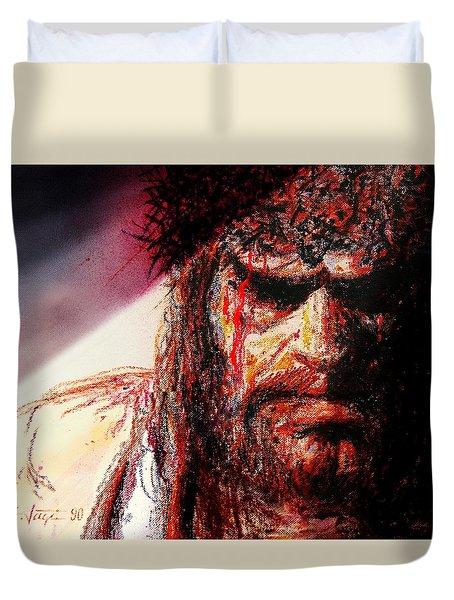 Willem Dafoe - Actor Duvet Cover by Hartmut Jager