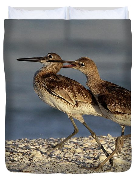 Willet Fight Duvet Cover