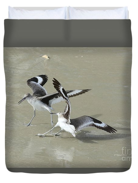 Willets At The Beach Duvet Cover