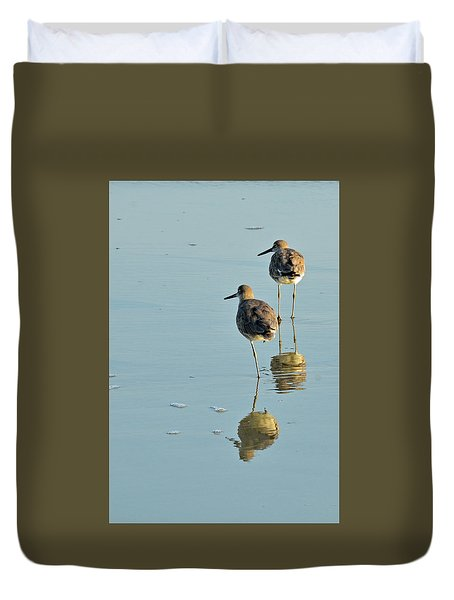 Willets On Jekyll Duvet Cover by Bruce Gourley