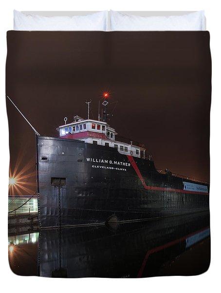 William G Mather At Night  Duvet Cover