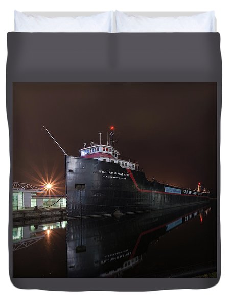 William G Mather At Night  Duvet Cover