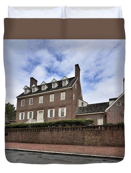 William Paca House In Annapolis Maryland Duvet Cover by Brendan Reals