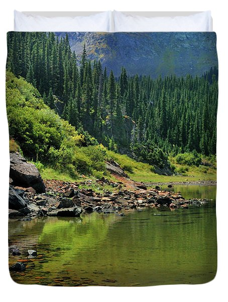 Duvet Cover featuring the photograph Williams Lake by Ron Cline
