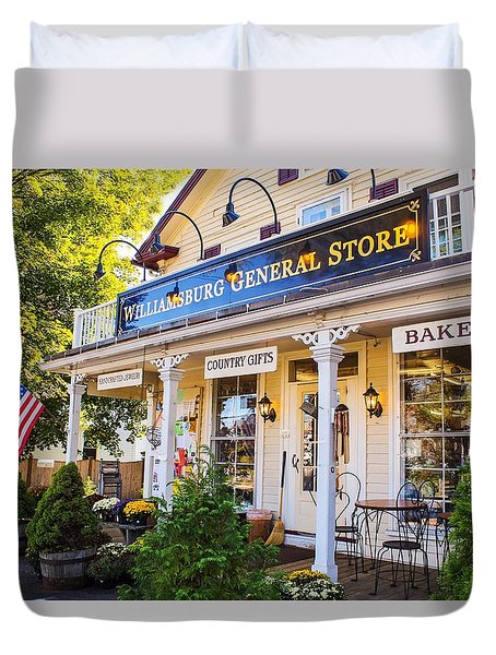 Williamsburg General Store Mass Duvet Cover
