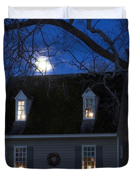 Williamsburg House In Moonlight Photograph By Sally Weigand