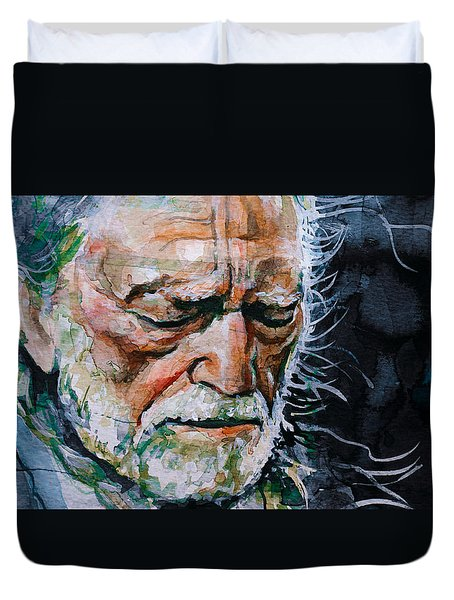 Willie Nelson 7 Duvet Cover by Laur Iduc
