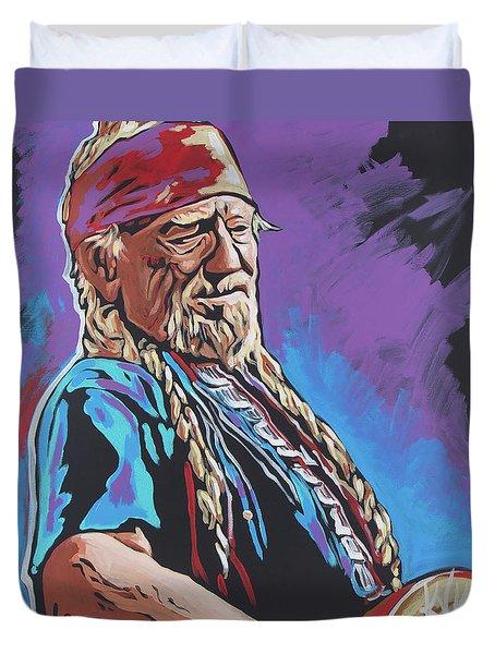 Willie Nelson Duvet Cover