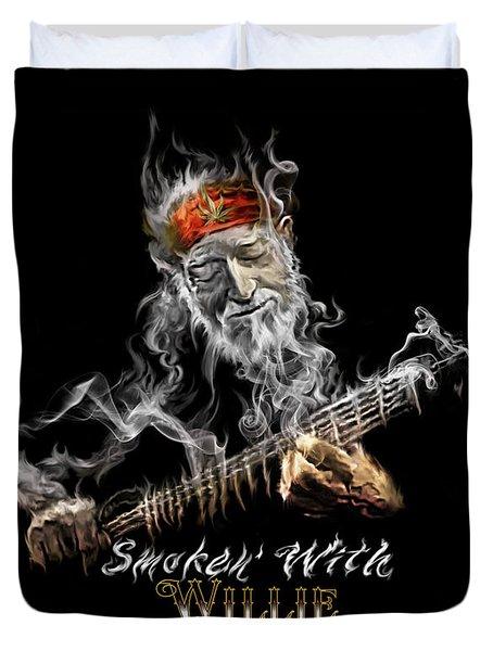 Willie Smoken' Duvet Cover