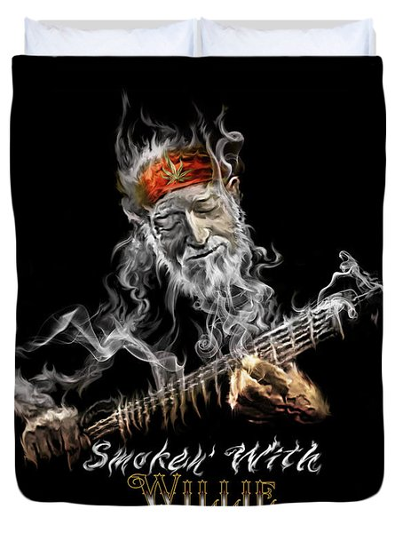 Willie Smoken' Duvet Cover