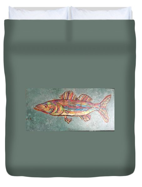 Willie The Walleye Duvet Cover