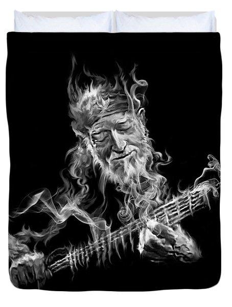 Willie - Up In Smoke Duvet Cover