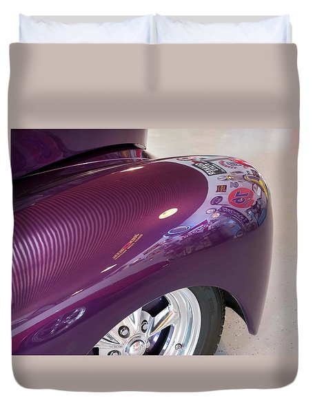 Duvet Cover featuring the photograph Willy's Fender by Jeanne May