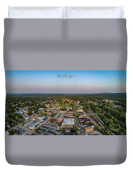 Willimantic Panorama Duvet Cover