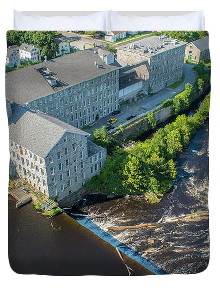 Willimantic River And Mill #2 Duvet Cover